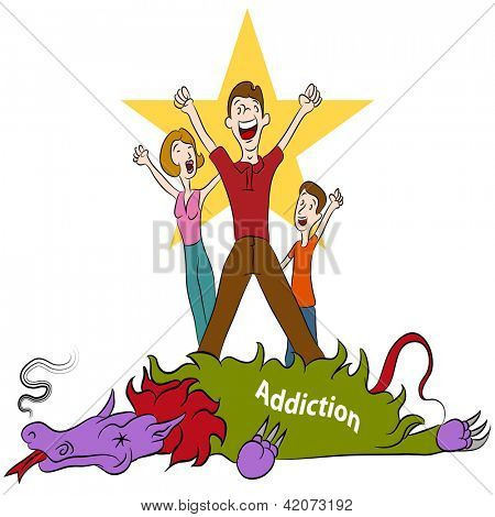 An image of a family conquering addiction.