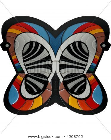 Coloured Abstract Butterfly