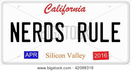 Nerds Rule License Plate
