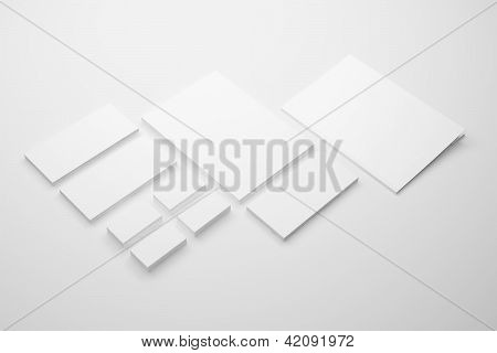 Blank Envelopes Business card and folder
