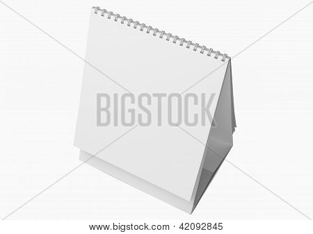 Desk Blank Calendar isolated on white