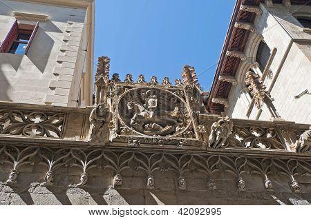 Generalitat Palace In Barcelona, Spain