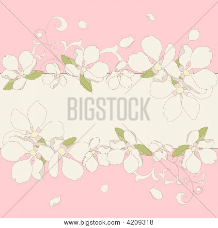 Apple Flowers Frame