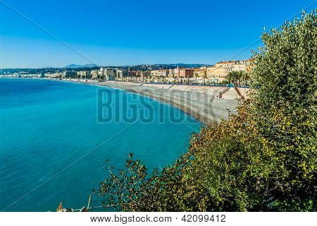 Nice bay in alpes maritimes french riviera France