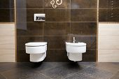 stock photo of pissoire  - Luxury bathroom closeup  - JPG