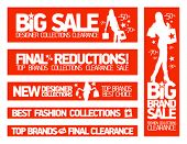 Fashion banners set for sale and new clothing collections.