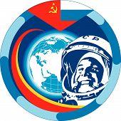 stock photo of yuri  - An obsolete Soviet Yuri Gagarin  - JPG