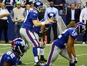 Cowboys Giants Eli Manning Waits For Snap From Center