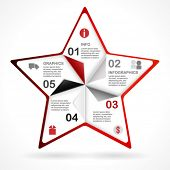 Frame star design template for infographics. vector