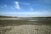 picture of water shortage  - dry cracks in the land serious water shortages deteriorating natural environment human environment is facing a serious crisis China Luannan County Hebei Province - JPG