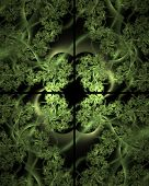 Ivy Window Abstract Fractal Design