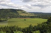 picture of dork  - Range of hills the North Downs at Dorking - JPG
