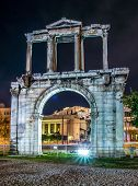 stock photo of olympian  - Arch of Temple of Olympian Zeus in Athens - JPG