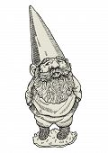 foto of gnome  - Vector illustration of gnome with hands in pockets - JPG