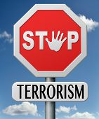 stock photo of war terror  - stop terrorism war on terror against terrorist - JPG