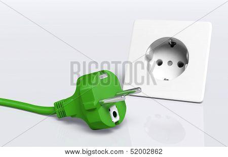 Green Plug And Socket