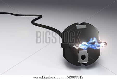 Plug With High Voltage Arc
