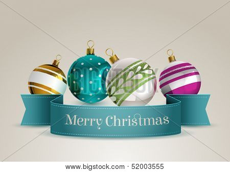 Christmas ornaments, eps10 vector