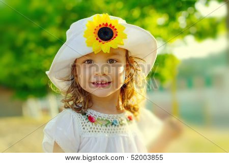 Sweet child smiling