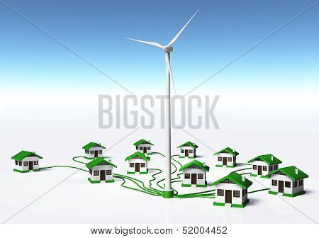 Wind Generator Supplys The Houses