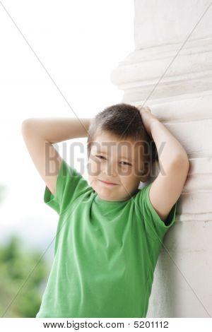 Boy At Column