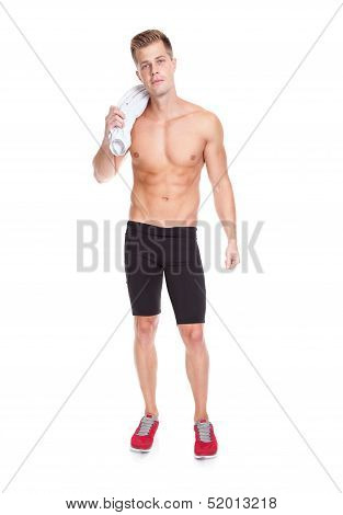 Fit Young Man With A Towel
