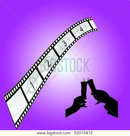 Cinematography Sign Art Color Vector Illustration
