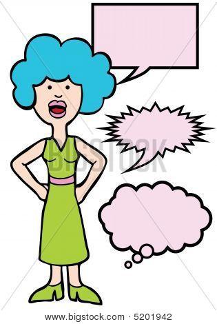 Outspoken Blue Hair Woman