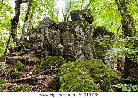 Rock Devil Finger In Caucasus Mountains