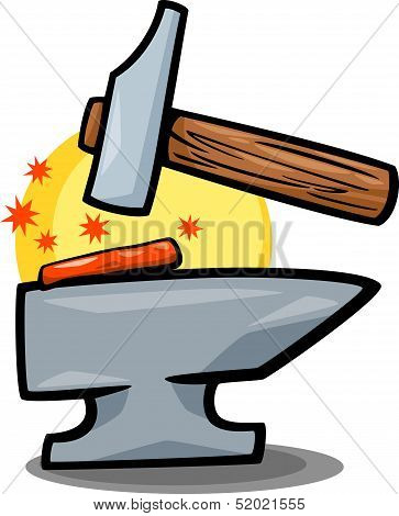 Hammer And Anvil Clip Art Cartoon