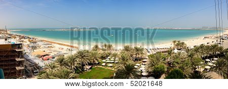 Dubai, Uae - September 11: The Panoramic View On Jbr Beach And Construction Of The 210-metre Dubai E