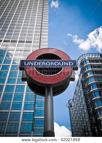 Underground Sign, Canary Wharf