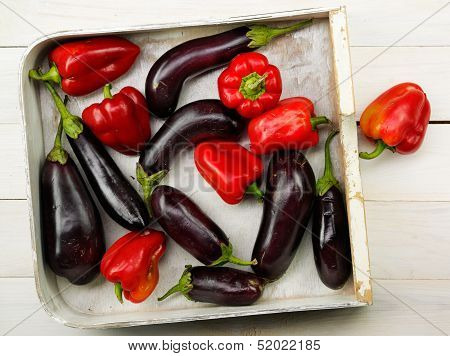 Red Pepper And Eggplant