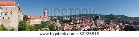 aerial view of  Cesky Krumlov,Prague, Czech