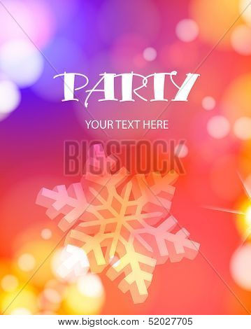 Christmas party poster, Vector