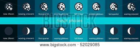 Moon Flat Icons