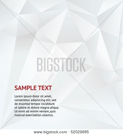 Abstract White Geometric Background. Vector Illustration