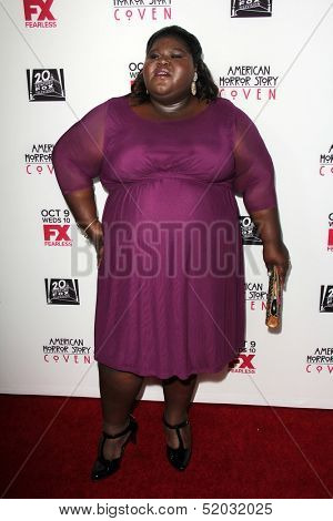 LOS ANGELES - OCT 7:  Gabourey Sidibe at the