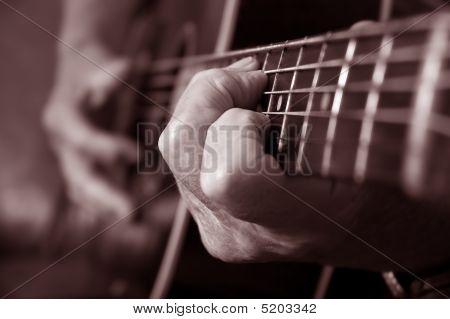 Acoustic Guitar Sepia