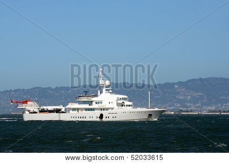 Luxury Yacht With Helicopter