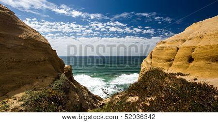 Yellow Ochre Hills In Portugal