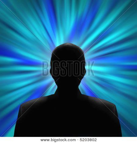 Mysterious Man In A Blue Vortex