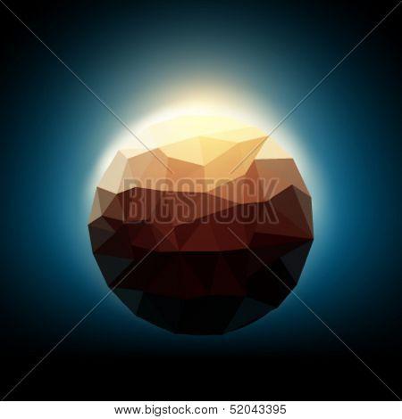 polygonal planet illustration