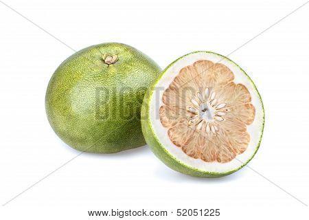 Pummelo (citrus Grandis) - Half Cut