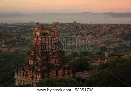 Temple in Hampi, India.
