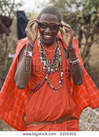 Masai With Sun Glasses