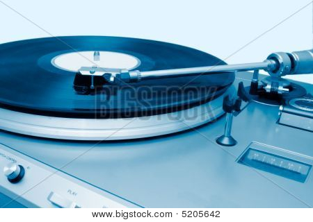 Turntable Playing A Vynil