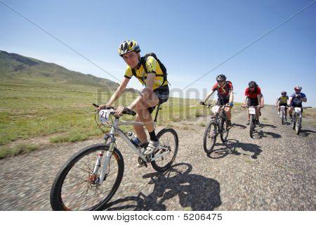 Adventure Mountain Bike Maranthon In Desert Mountains