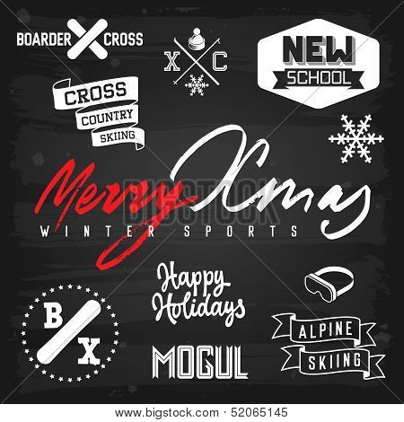Winter Sports Christmas Greetings
