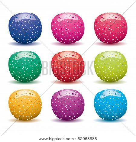 Vector Set Of Colorful Fruit Jellies
